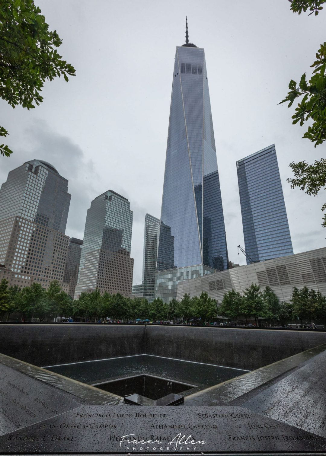 One of the 9-11 memorial pools