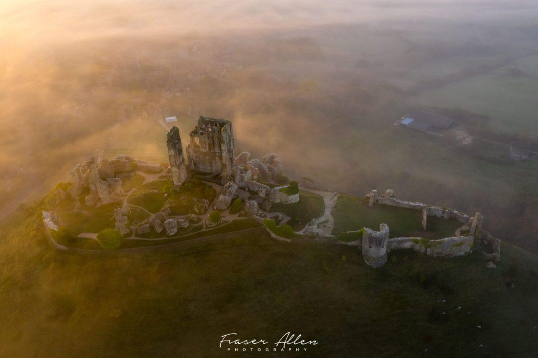 Dawn at Corfe Castle