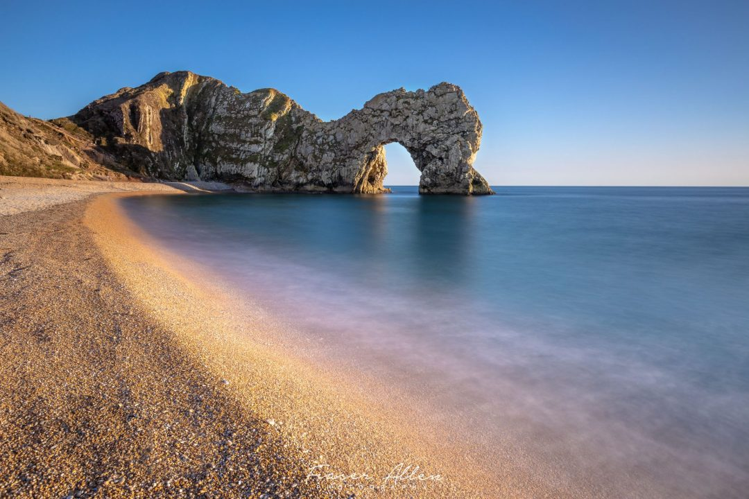 just before sunset at Durdle Door