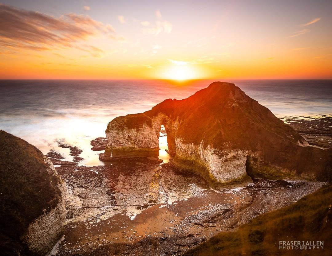 Dawn at Flamborough Head rock arch