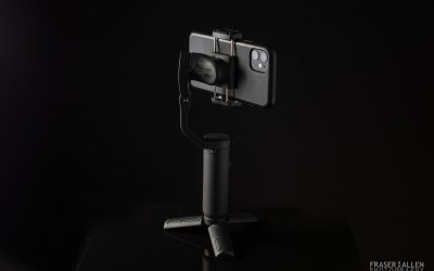 Product photoshoot for an iPhone gimbal