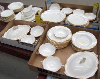 Regency Dinnerware & Paris Porcelain Dessert Service Of ...