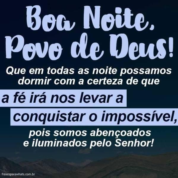 Boa Noite tenha Fé em Deus e vai conquista o impossivel!