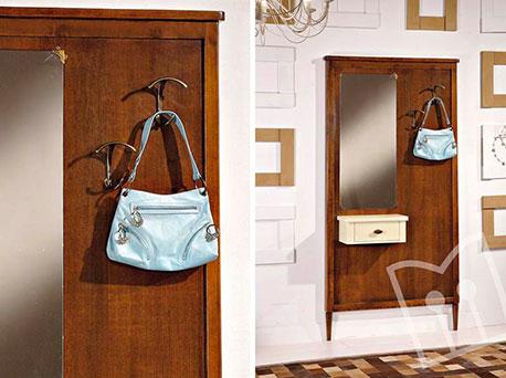 Shop online mobili per ingresso con appendiabiti, scarpiera e cassetti. Mobili Ingresso Classico
