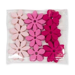 Fiori feltro rosa 3 tonalità