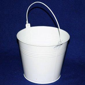 Secchiello latta bianco D18