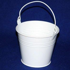 Secchiello latta bianco D12