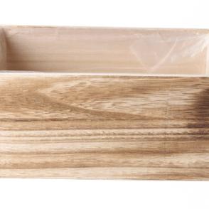 Cassetta legno rettangolare 23x13x12 cm naturale