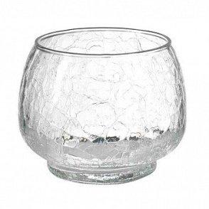 Vaso in vetro H12 D15,5 crakle