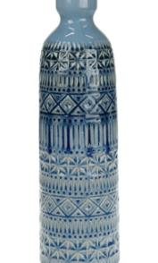Vaso ceramica 12,5×12,5×40,5 cm – blu