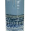 Vaso ceramica con viso 15x15x36 cm -blu