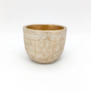 Vaso svasato Arabesque oro D14 H11 cm