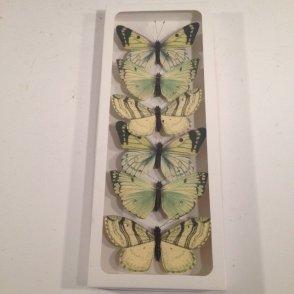 Farfalla gialla in carta con clip – Conf. da 6 pz