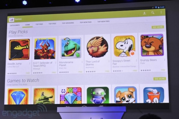 Google Play Store: Sezione dedicata ai tablet