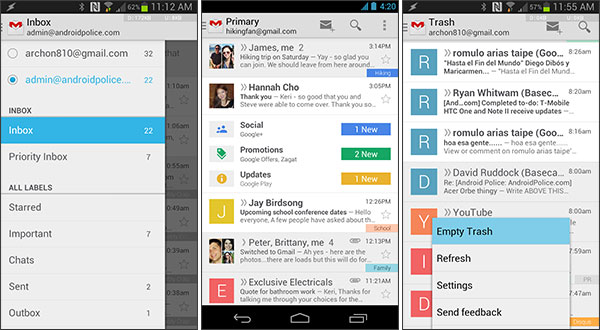 Gmail 4.5 su Android: Download APK e Novità