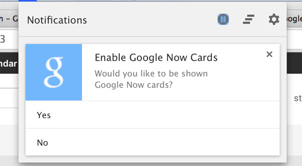 Google Now su Chrome in arrivo