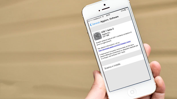 Guida installazione iOS 7 beta 2 via OTA su iPhone