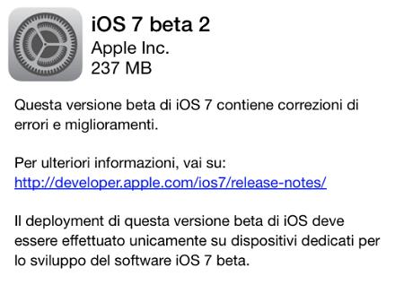 iOS 7 beta 2: Novità e miglioramenti su iPhone 5, 4S, 4 e iPad