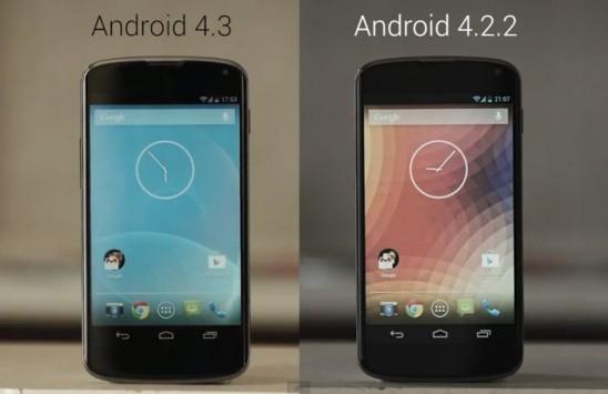 Android 4.3 vs Android 4.2.2 su Nexus 4 (video)