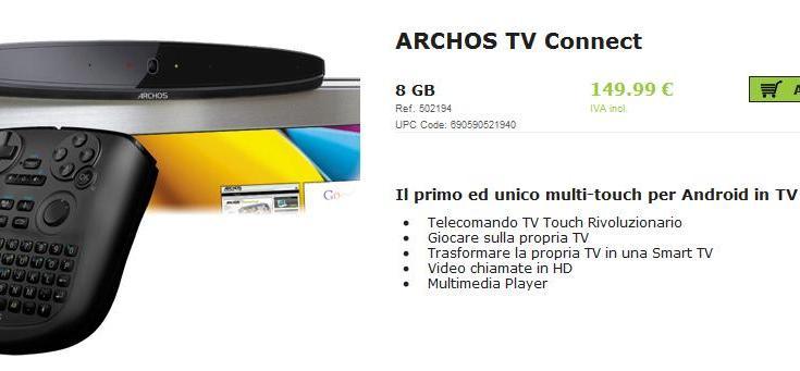 Archos TV Connect in Italia a 149 euro
