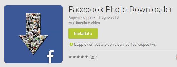 Facebook Photo Downloader: Salvare e scaricare immagini da app Facebook