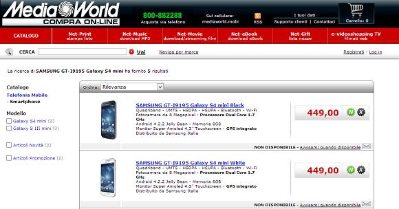 Samsung Galaxy S4 Mini in Italia: Prime offerte e prezzi