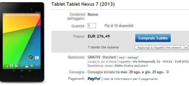 Nexus 7 2013: Disponibile pre-ordine da Marcopoloshop