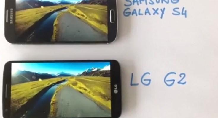 Confronto tra LG G2 e Samsung Galaxy S4 in video