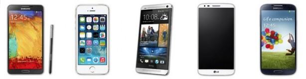 Confronto tra HTC One Max, Samsung Galaxy Note 3 e LG G2