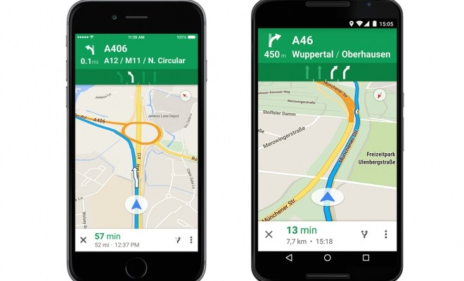 Google Maps corsia giusta