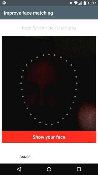 sblocco facciale android