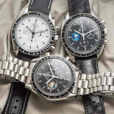 All Apollo 13 related Speedmaster watches together