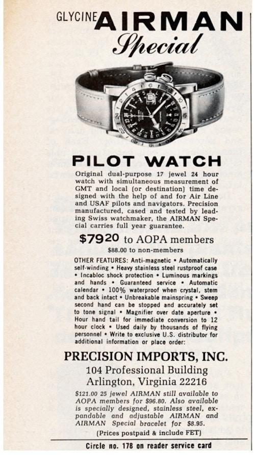 The Glycine Airman Special advertisement (photo credit: forums.watchuseek.com)
