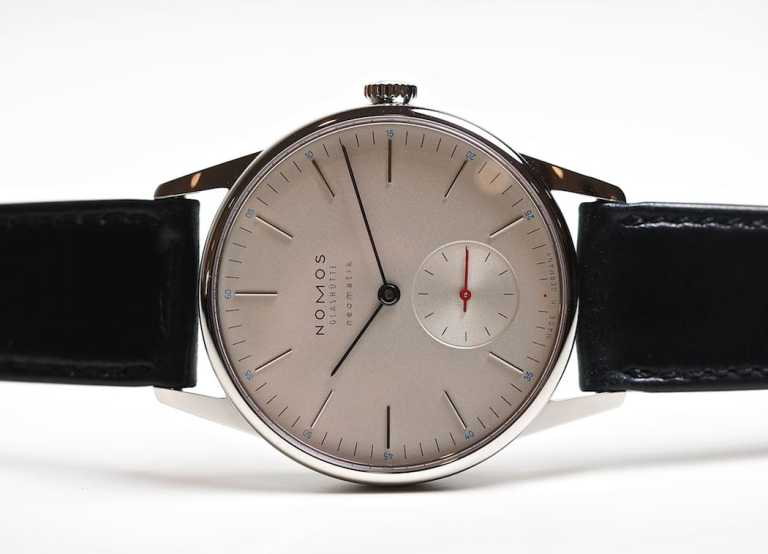 The Nomos Neomatik Orion - note the small red dot at 6:00 - it's all in the details