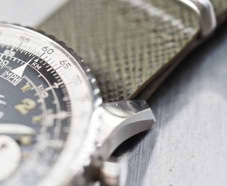 The well-defined chamfers of the Breitling 809 Cosmonaute