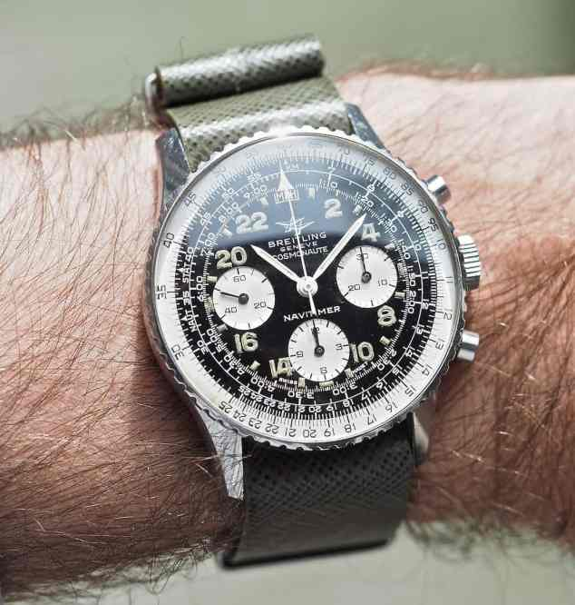 The Breitling 809 Cosmonaute is commanding on the wrist