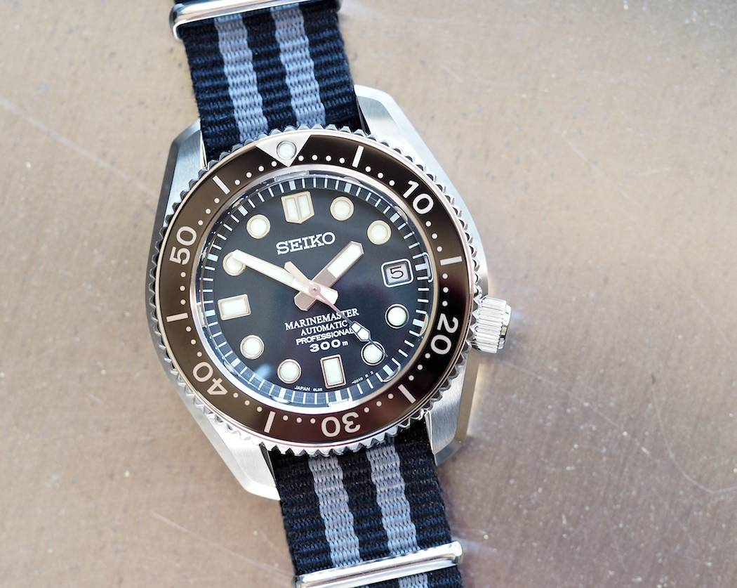 See the beautiful matte top finishing on the case of the Seiko MM300 and polished sides - they'll keep their form due to the new application of DiaShield.
