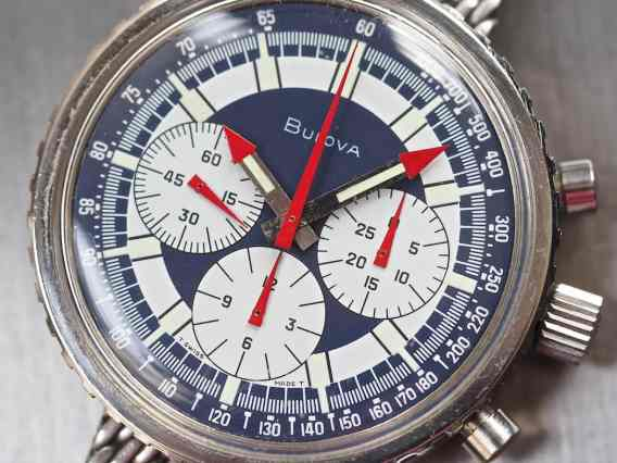 Bulova Stars and Stripes dial close-up