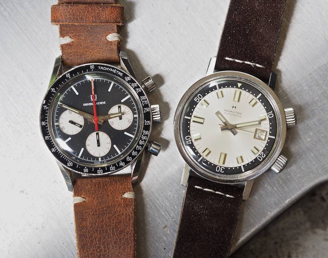36mm can be powerful...here are 2 examples, the Universal Geneve Compax and the Hamilton 600