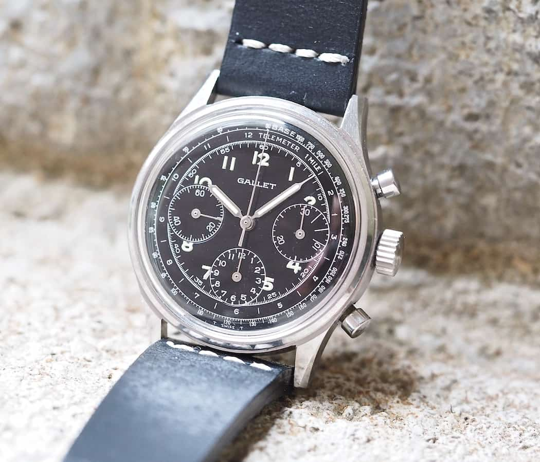 The Gallet Multichron 12 in black