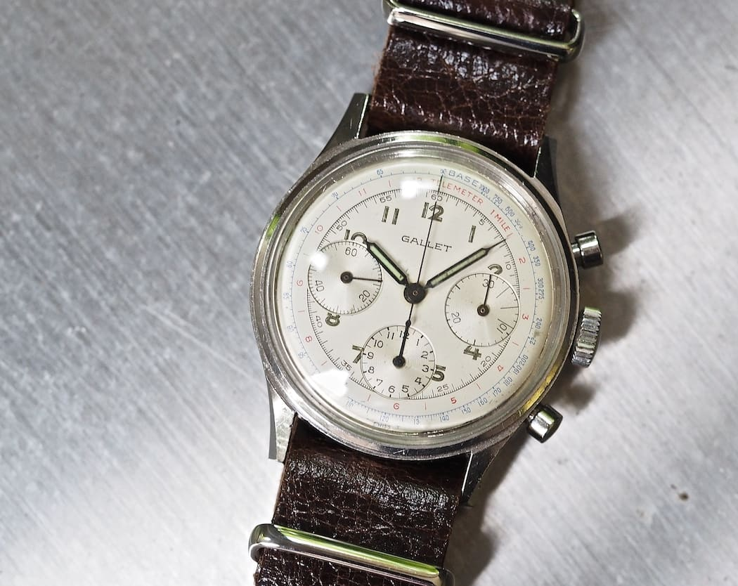 Black or white, the Gallet Multichron 12 is a beautiful chronograph