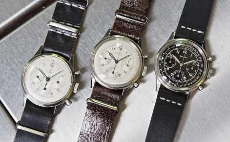 A trio of Gallet Multichron 12's, from L to R, an EP40 and the two V72's