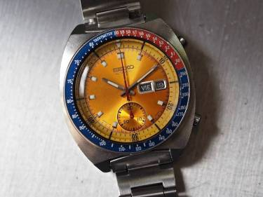 A look at the Seiko 6139 Pogue with its original and scratched Hardlex crystal