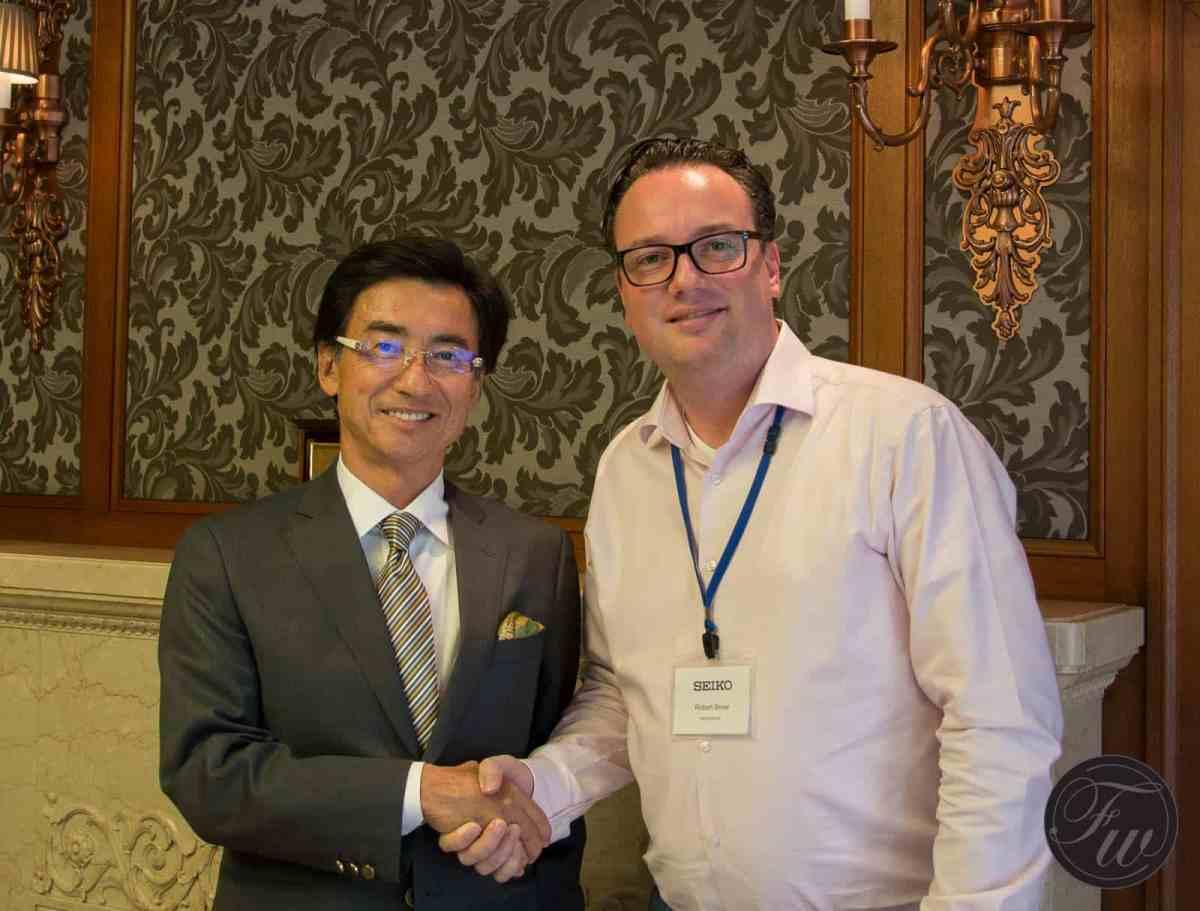 Seiko CEO Hattori and Robert-Jan Broer