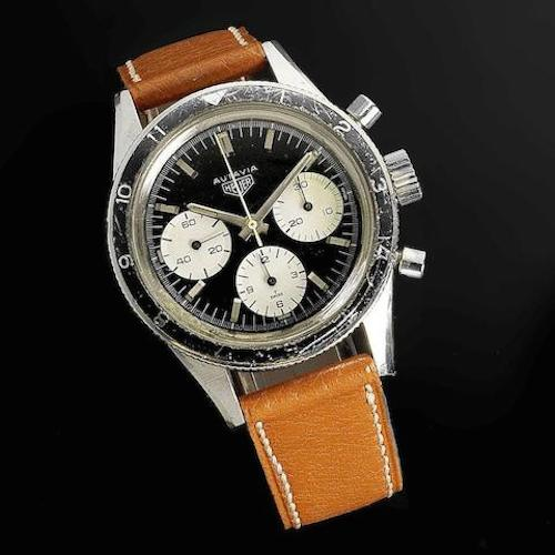 The Heuer 2446H sold by Bonhams on June 22, 2016 for roughly $30,000 (photo credit: bonhams.com)