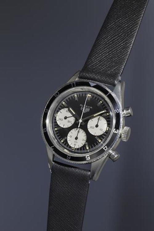 The Heuer Autavia sold at Phillips for 75,000 CHF (photo credit: www.phillips.com)