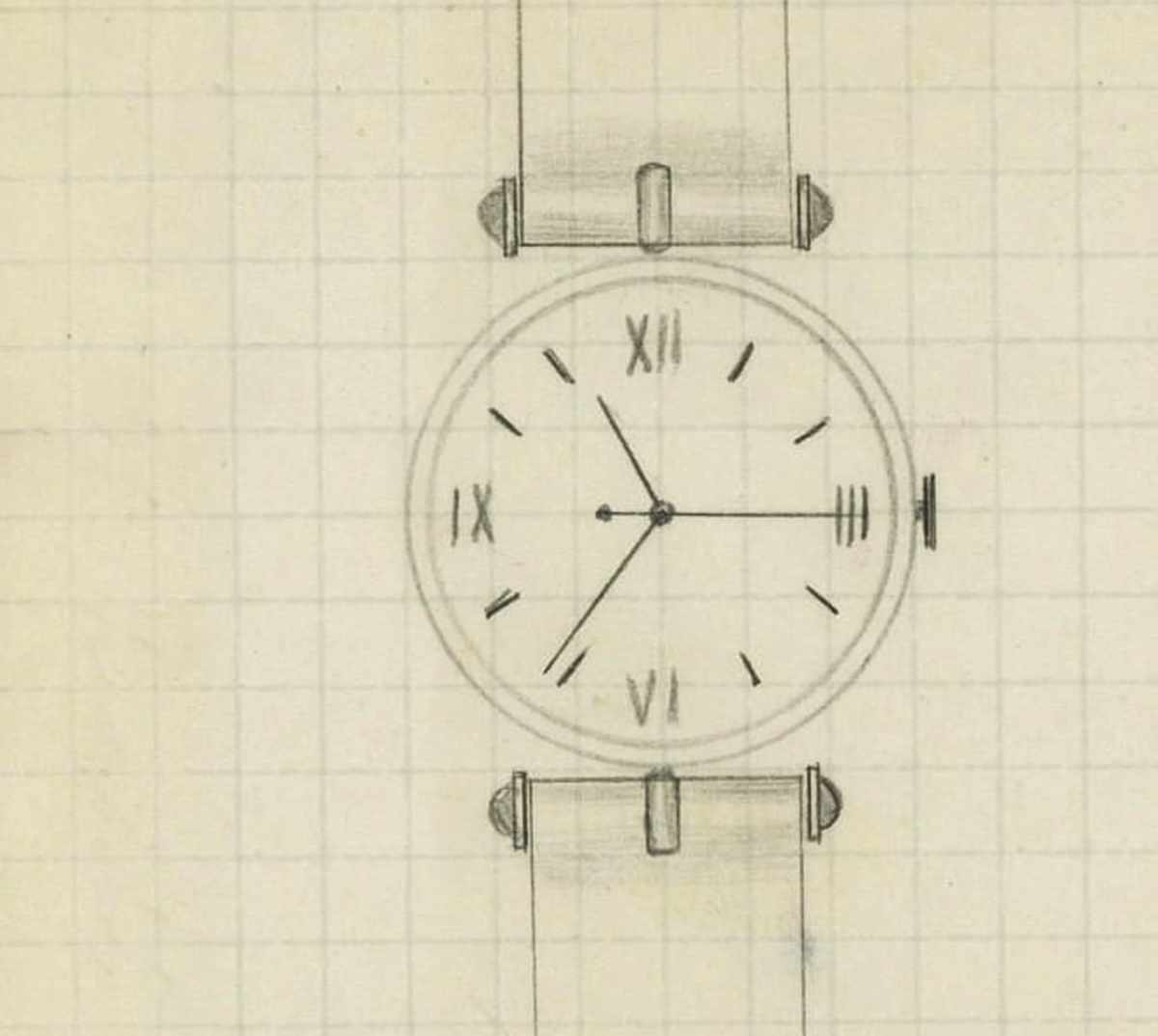 The First Sketch of the Pierre Arpels watch