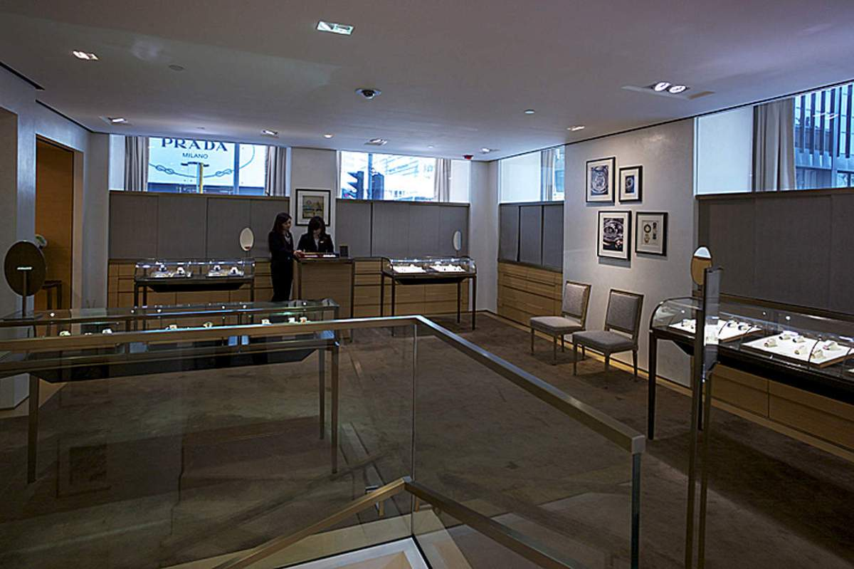 - The watch room in the Prince Boutique -
