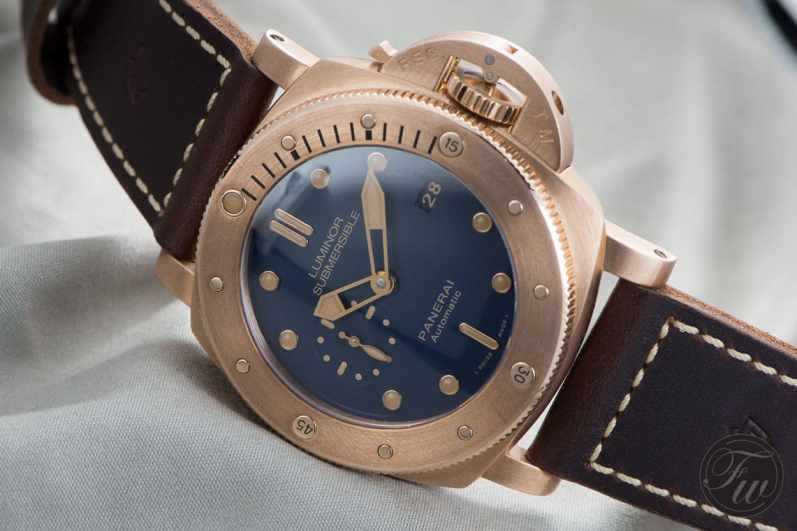 PANERAI LUMINOR SUBMERSIBLE 1950 3 DAYS AUTO BRONZO-4786