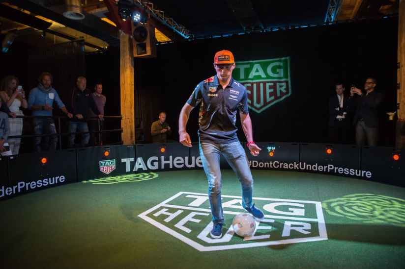 TAGHeuer_Max Verstappen at the Football Challenge